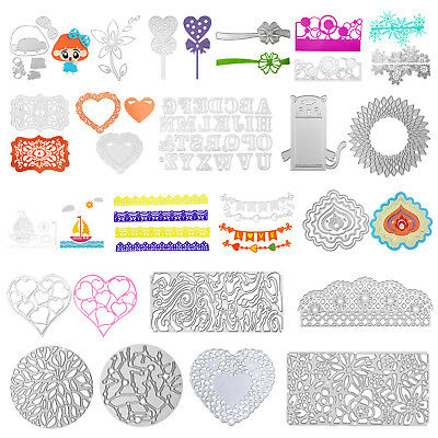 Flower Frame DIY Cutting Dies Stencil Scrapbook Embossing Craft Album Paper Card