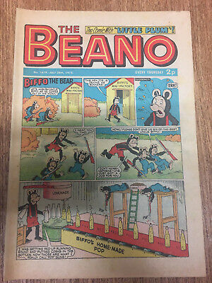 Beano Comic No 1619 July 28th 1973, Vintage UK Biffo the Bear