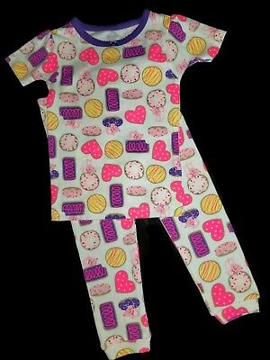6c420d2a9 CARTERS GIRLS BROWN Hearts 2 Piece Pajama Set Size 2T -  12.99 ...
