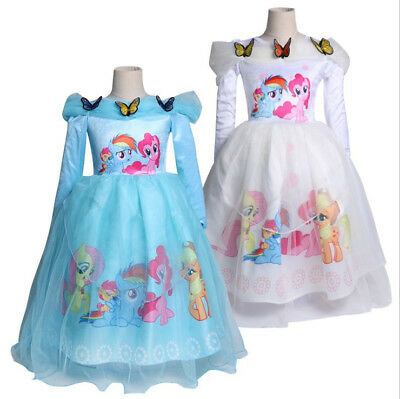 NEW GIRLS MY Little Pony Awesome Pink Jersey Skater Dress Age 2-8 ...