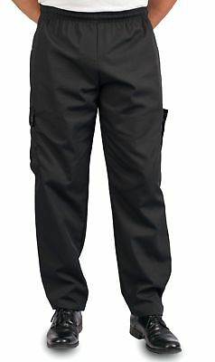Black Cargo Style Chef Pant