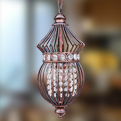 Starthi Bronze Birdcage Chandelier with Crystals-1-Light Antique Hanging Light