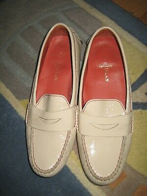 db16aa3a218 Cole Haan Air Sadie Driving Moccasin Women size 7.5 Tan Patent Leather