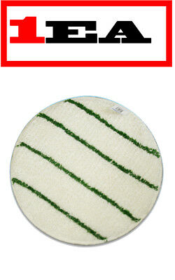 "JLQueen Commercial Carpet Cleaning Bonnet Pad w/ Scrub Strips 20"" Round-674719EA"
