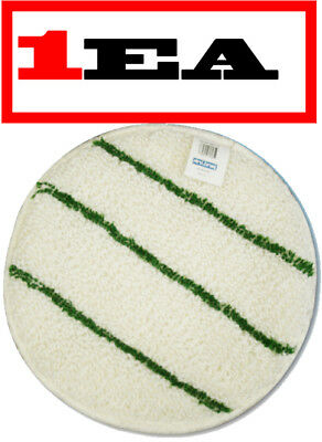 """[1PACK] Commercial Carpet Cleaning Bonnet Pad w/ Scrub Strips 17"""" Round-674705EA"""