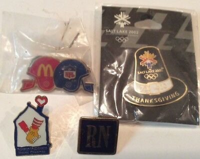 Lot of 4 collectible pins,2 McDonald pins and two others,very nice        T360
