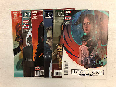 Rogue One A Star Wars Story #1 - #6  -Comic Book Lot- Marvel  Visit My Store