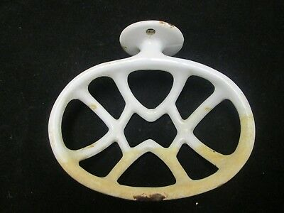 Vintage Porcelain over Cast Iron Wall Mount soap Dish