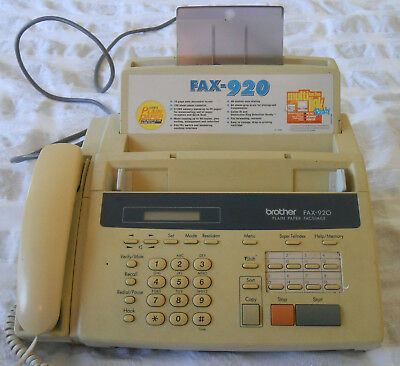 Brother  Phone Fax Machine Plain Paper  - FAX-920 with 2 Fax Rolls