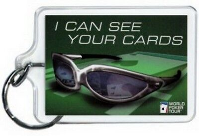 World Poker Tour I Can See Your Cards Lucite Keychain WK1580