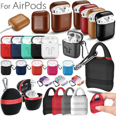 AirPods Silicone Leather Cover Protective Skin for Apple Airpod Charging Case