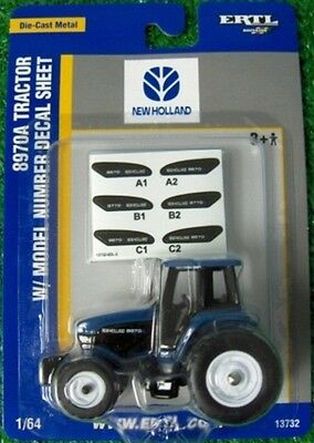 1993 New Holland 8970A Series Tractor Dual Rear Wheels Diecast Scale 1/64 Ertl