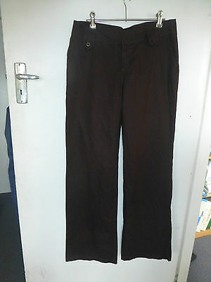 New with tags  Esprit linen mix pants  brown size 10