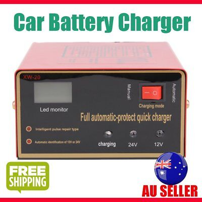 Car Battery Charger 100AH Automatic Intelligent Pulse Repair Type 220V 12V/24V G
