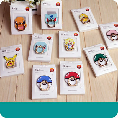 Cute Pokemon Universal 360° Ring Finger Phone Ring Stand Holder Pad