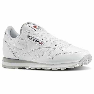 REEBOK CLASSIC LEATHER White 101 MENS CLASSIC RUNNING SHOES