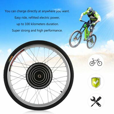 "36/48V Electric Bicycle E-Bike 26"" Front Rear Wheel Conversion Kit Cycling"