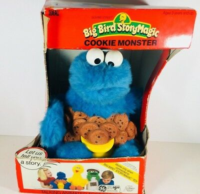 Vintage Ideal Animated Storytelling Cookie Monster Tape Player Plush