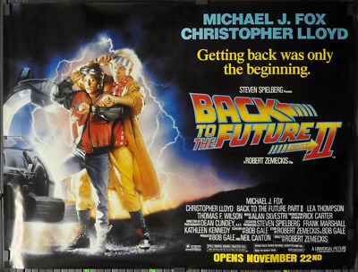 Back To The Future Ii 1989 Orig 46X60 Subway Movie Poster Michael J. Fox