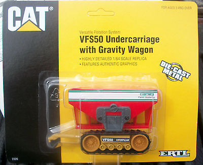 Caterpillar Vfs50 Undercarriage With Gravity Wagon Diecast Scale 1/64 Ertl
