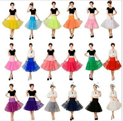 "Vintage Petticoat 26"" Retro Underskirt 50s Swing Fancy Net Skirt Rockabilly Tutu"