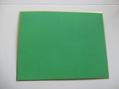 100 Green with gold edge  vintage  letterpress printers cards. small*