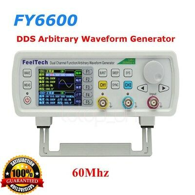 30Mhz/60Mhz DDS Functional Signal Generator FeelTech FY6600 Arbitrary Waveform