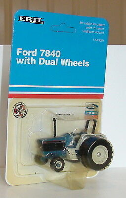 Vintage 1991 Ford 7840 Wide Front Series Tractor Diecast Scale 1/64