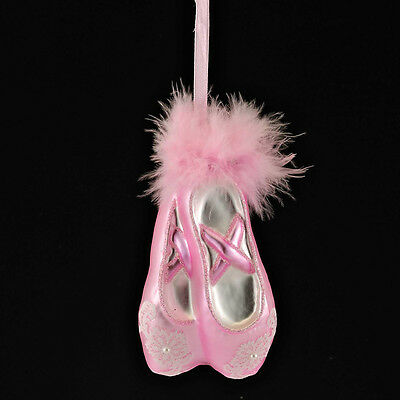 Adorable Pink Glass Ballerina Slippers