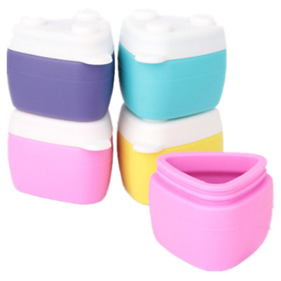 BrilliantDay 4pcs Silicone Cosmetic Containers Cream Jar with Sealed