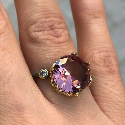 925 Sterling Silver Handmade Authentic Turkish Alexandrite Ladies Ring Size 6-9