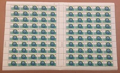 1971 Australian 50 Years Of Rotary Wheel Full Sheet 100 stamps 6c