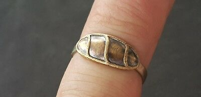 Ultra rare Exquisite Roman Silver/Copper alloy ring Please read description L96z