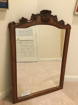 Antique Solid Wood Wall Mount Mirror