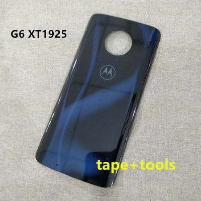 OEM Real Glass Battery Back Cover Door Panel For Motorola Moto G6 XT1925 Blue