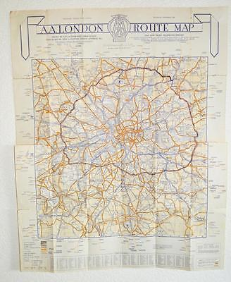 OLD AA ROUTE Map London - The West End. - £12.99 | PicClick UK