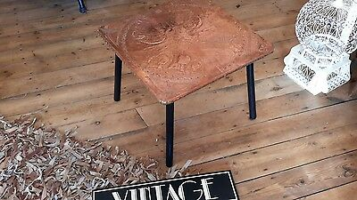VINTAGE ARTS AND CRAFTS style copper sailing boat nautical theme table