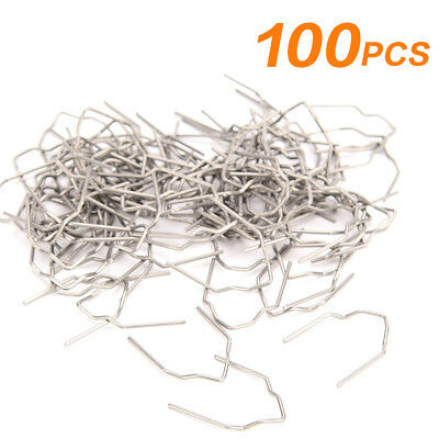 100pcs Welder Stapler Standard Pre Cut 0.8mm Wave Hot Staples Car Bumper Repair