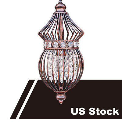 Starthi Antique 1-Light Bronze Birdcage Chandelier Hanging Pendant Ceiling Lamp