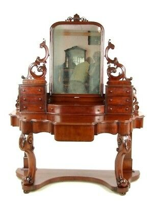 Antique Mahogany Dresser, Carved Vanity, Duchess Dressing Table, Scotland, B1018
