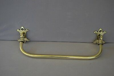 Brass Towel Rail With Gothic Finials Antique Towel Rail, Cloakroom Etc