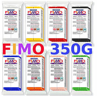 FIMO SOFT & CLASSIC 350g POLYMER MODELLING - MOULDING OVEN BAKE CLAY BIG BLOCKS