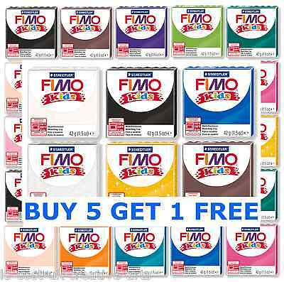 NEW FIMO KIDS FORM & PLAY 42g POLYMER MODELLING OVEN BAKE CLAY 24 COLOURS