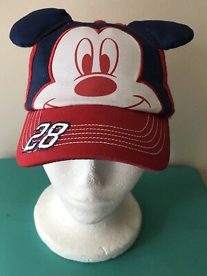 Disney Patriotic #28 Toddler Mickey Mouse Hat Baseball Cap with Ears Snapback
