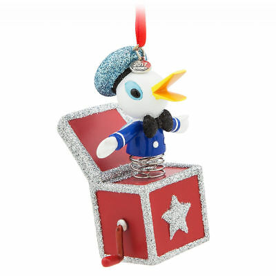 Disney Store Sketchbook 2017 Donald Duck Jack In a Box 2017 Ornament NWT In Box