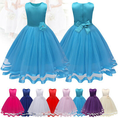 Girls Bowknot Tulle Princess Skirt Summer Dresses for Kids Formal Party Clothes