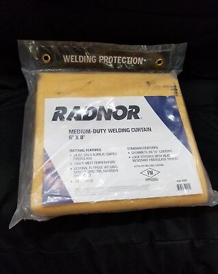 Radnor 6 ft x 8 ft x .034 in Thick Welding Curtain 64052005 New