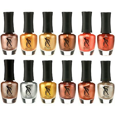 SXC Cosmetics Metallic Gold Nail Polish Lacquer 15ml/0.5fl set of 12 Colors lot