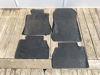 OEM 96-02 Mercedes W210 E320 E420 E430 E55 Rubber Floor Mat All Season Set Black