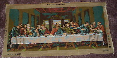 LARGE Twilley's OLD MASTERS PRINTED TAPESTRY CANVAS THE LAST SUPPER  88 x 40 cm